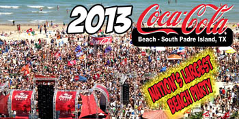 Coca Cola Beach On South Padre Island The Largest Party Planet Rolling Stone Said It S Place To Be During Day